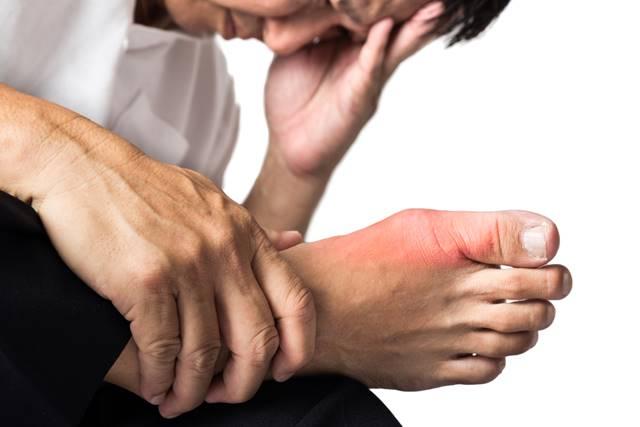 simptome de glezna cu artrita guta