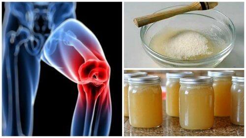 pentru dureri articulare, luați gelatină