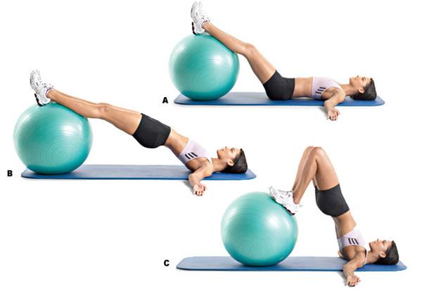 Exerciții dovedite pentru spate pe fitball - un set de 6 mișcări pe minge pentru fitness